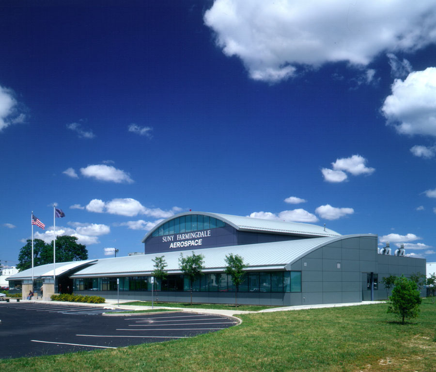 Front Elevation Of The Houses : Siris coombs architects suny aerospace training facility